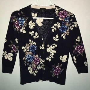 Women's Ann Taylor Cardigan in Floral Print, S